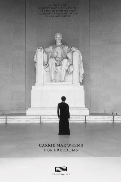 Carrie Mae Weems' For Freedoms Advertisement for 2016 Presidential Election